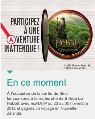 Le hobbit ratp