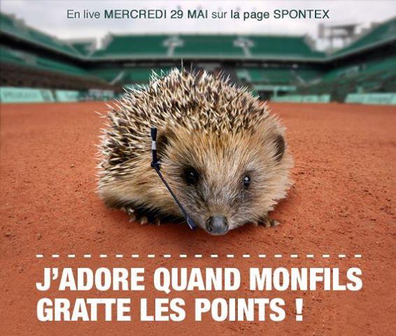 Ernie à Roland Garros