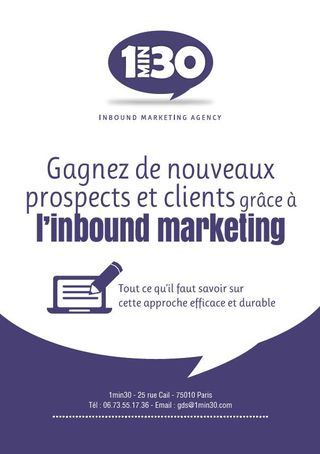 Couv inbound marketing par 1min30