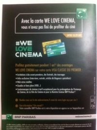 BNP dépliant we love cinema