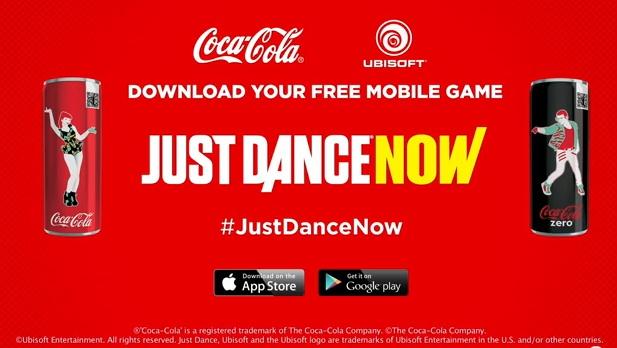 Coca-cola ubisoft just dance now
