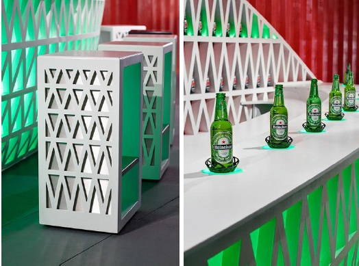Heineken corian design bar