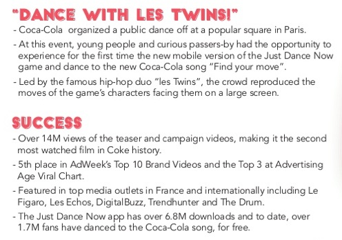 Dance with les twins coca-cola results